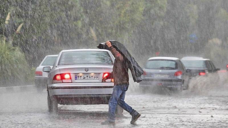 بارش برف و باران در محورهای شمالی ، سامانه بارشی امشب از مازندران خارج می گردد
